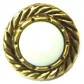 15mm Gold Swirl Edge White Center Sewing Button