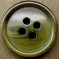 19mm Aran Dark Green Sewing Button 4 Hole