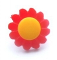 Novelty Button Daisy Yellow and Red 14mm