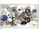 50 Assorted Mix Gold and Silver Buttons