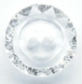 15mm Crystal Pattern Clear Sewing Button