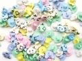 100 Novelty Buttons Mixed Teddy Face 15mm