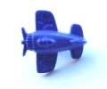 Novelty Button Aeroplane Royal Blue 15mm