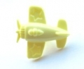 Novelty Button Aeroplane Lemon 15mm