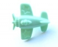 Novelty Button Aeroplane Light Green 15mm