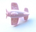 Novelty Button Aeroplane Pink 15mm