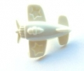 Novelty Button Aeroplane Cream 15mm