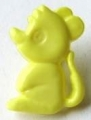 Novelty Button Mouse Yellow 8mm