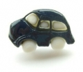 Novelty Button Car Navy Blue 18mm