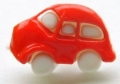Novelty Button Car Red 18mm