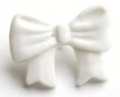 Novelty Button Bow White 16mm