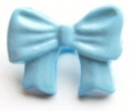 Novelty Button Bow Light Blue 16mm