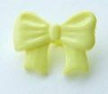 Novelty Button Bow Lemon 16mm