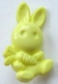 Novelty Button Bunny and Carrot Yellow 12mm