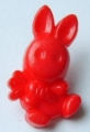 Novelty Button Bunny and Carrot Red 12mm