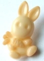 Novelty Button Bunny and Carrot Peach 12mm