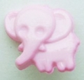 Novelty Button Elephant Pink 13mm