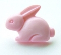 Novelty Button Bunny Pink 18mm