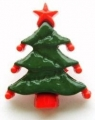 Novelty Button Christmas Tree 18mm