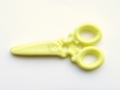 100 Novelty Buttons Scissors Lemon 34mm