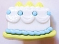 Novelty Button Cake Light Blue 22mm