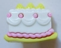 Novelty Button Cake Pink 22mm
