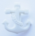 Novelty Button Anchor White 16mm