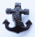 Novelty Button Anchor Black 16mm