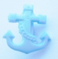 Novelty Button Anchor Light Blue 16mm