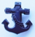 Novelty Button Anchor Navy Blue 16mm