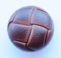 Leather Look Sewing Button 15mm Brown