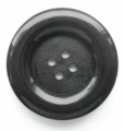 39mm Large 4 Hole Sewing Button Black