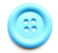39mm Large 4 Hole Sewing Button Light Blue