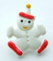 Novelty Button Clown White 17mm