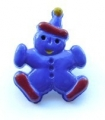 Novelty Button Clown Royal Blue 17mm