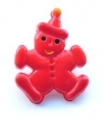 Novelty Button Clown Red 17mm