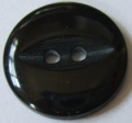 11mm Fisheye Black Sewing Button