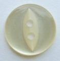 17mm Fisheye Cream Sewing Button