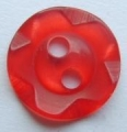 100 x 14mm Winegum Red Sewing Button