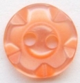 100 x 14mm Winegum Orange Sewing Buttons
