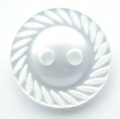 11mm Swirl Edge White Sewing Button