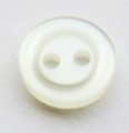 10mm White Ring Edge Sewing Button