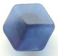 11mm Hexagon Shank Navy Blue Sewing Button