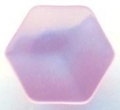 11mm Hexagon Shank Pink Sewing Button