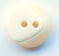 17mm Chunky Two Tone Cream Sewing Button