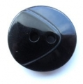 17mm Chunky Two Tone Black Sewing Button