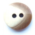 17mm Chunky Two Tone Brown Sewing Button