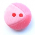 17mm Chunky Two Tone Pink Sewing Button