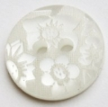 15mm Flower White Sewing Button
