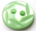 11mm Hexagon Top Light Green Sewing Button